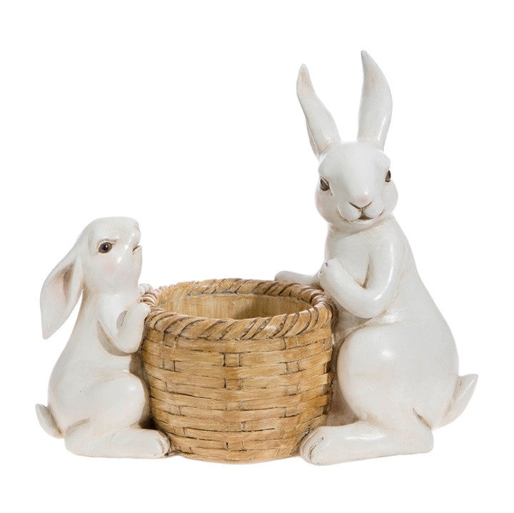 RABBITS WITH BASKET