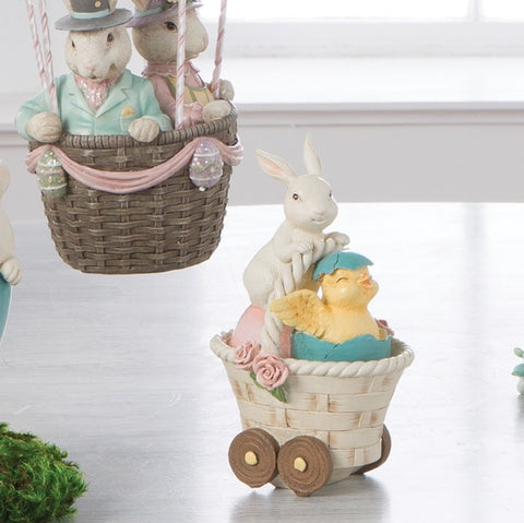 BUNNY AND CHICK IN BASKET