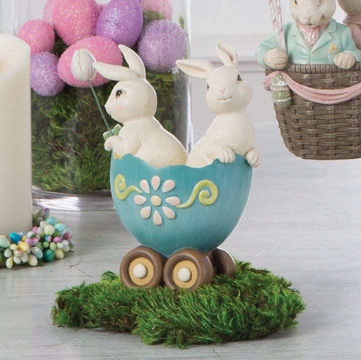 BUNNIES IN EGG CART