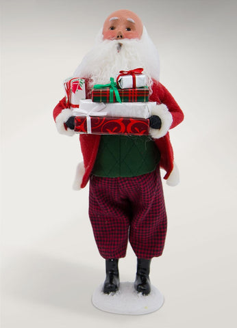 Byer Choice, Bald Santa with Packages