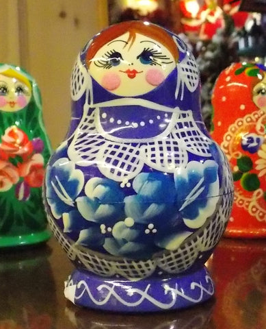 Matryoshka in Blue