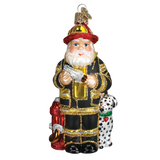 Old World FIREMAN SANTA Ornament