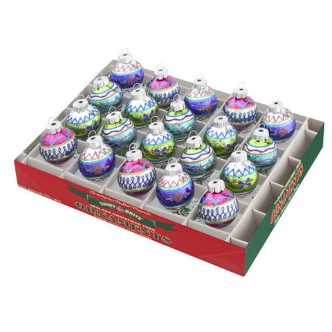 "Christmas Brites 1.25"" 20 Count Decorated Rounds"