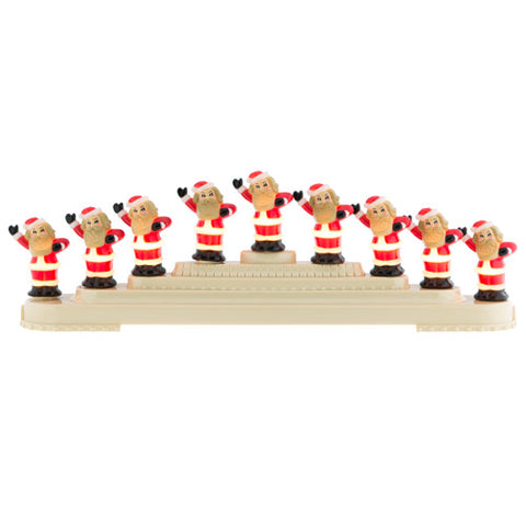 CR, Holiday Splendor 9 Count Santa Light Candolier, 4027594, Christopher Radko