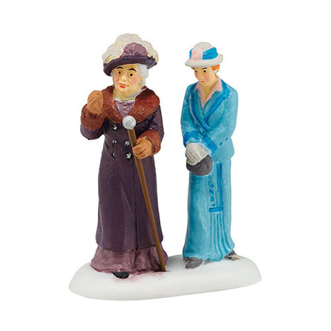 Downton Abbey Dowager Countess and Young Friend