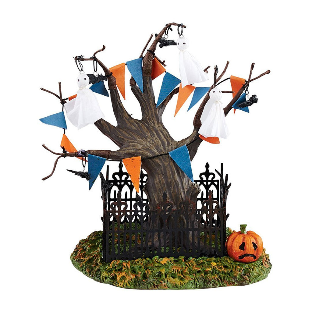 Halloween Village Town Tree