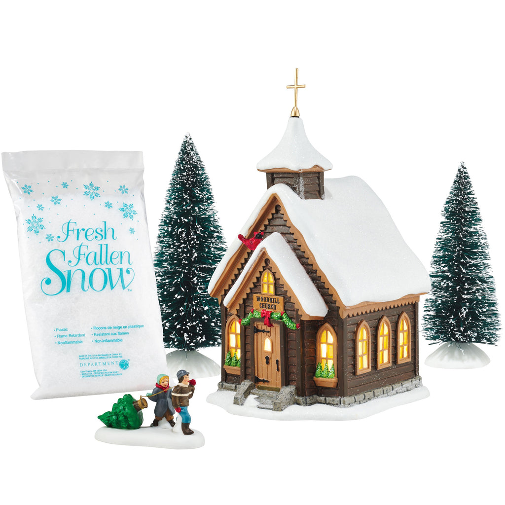 Snow Village Christmas Eve Church