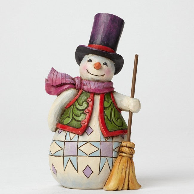 Jim Shore Snowman With Broom