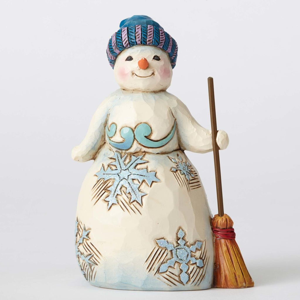 Jim Shore Wonderland Snowman /Broom