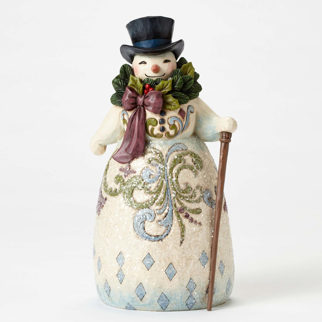 Jim Shore Victorian Snowman with Wreath