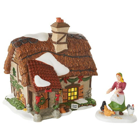 Dickens' Village Foxmore Cottage, Set of 2