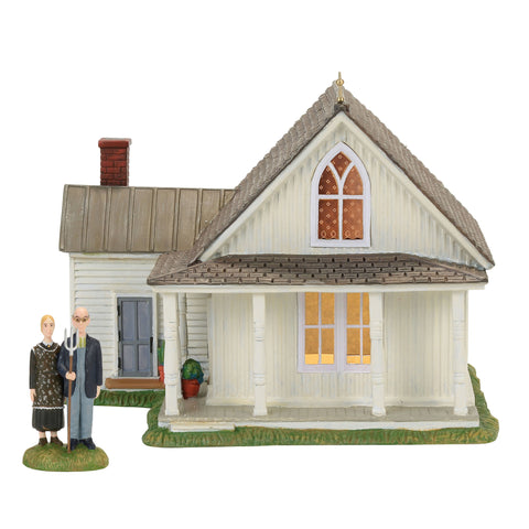 American Gothic, Set of 2, New England Village, 4056684