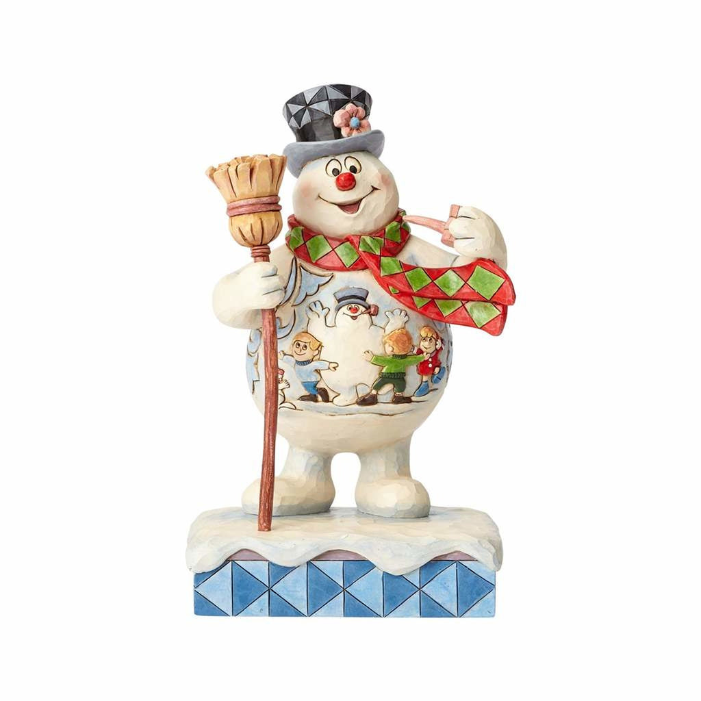 Jim Shore Frosty the Snowman Frosty with Scene on Belly