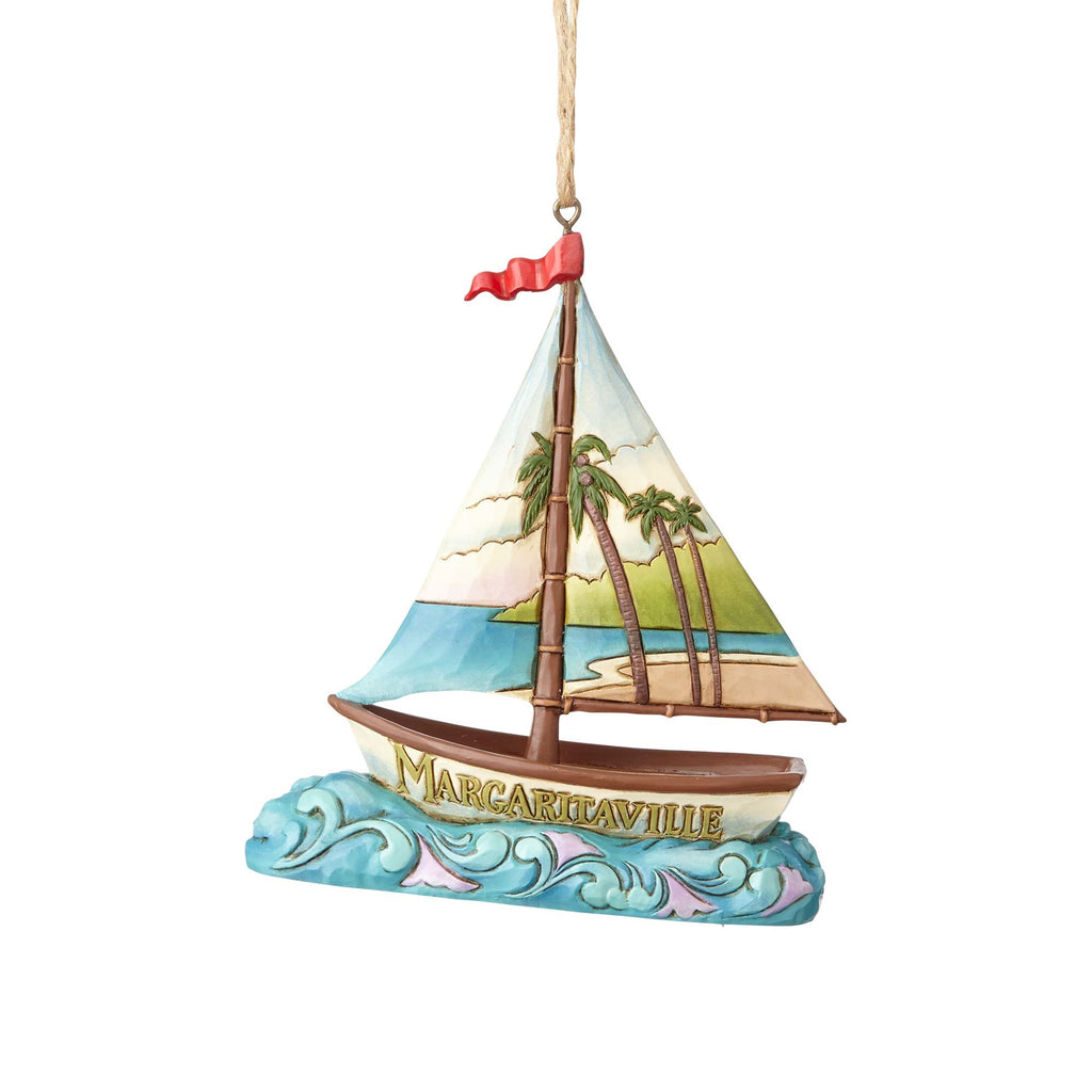 Jim Shore Margaritaville Sailboat Ornament