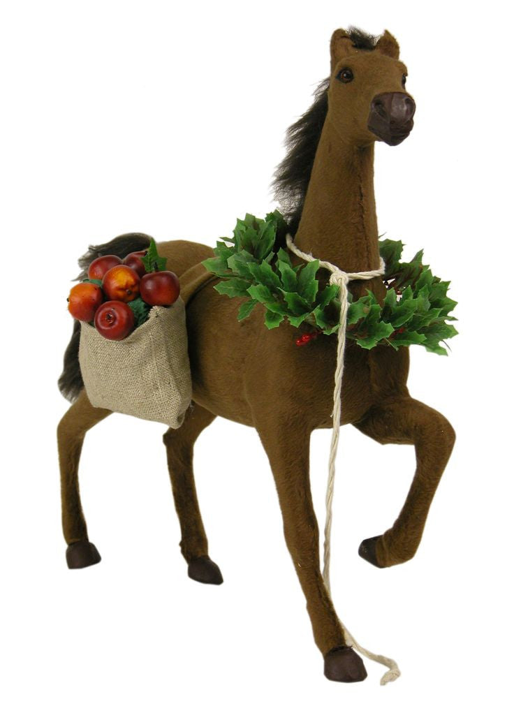 Horse with Christmas Treats, Byers Choice, 4324B