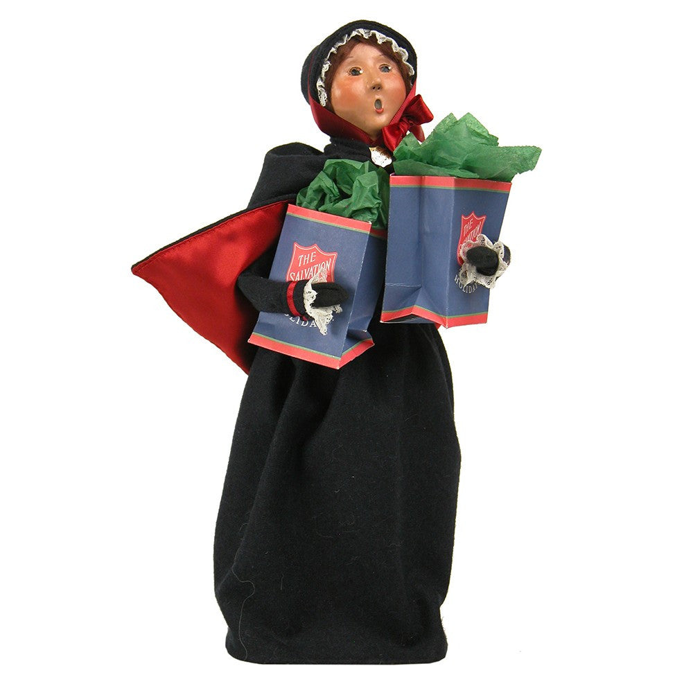 Salvation Army, Woman with Shopping Bags, Byers Choice, 4411B