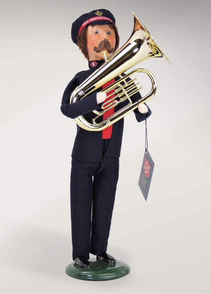 Salvation Army, Man with French Horn, Byers Choice, 4412D