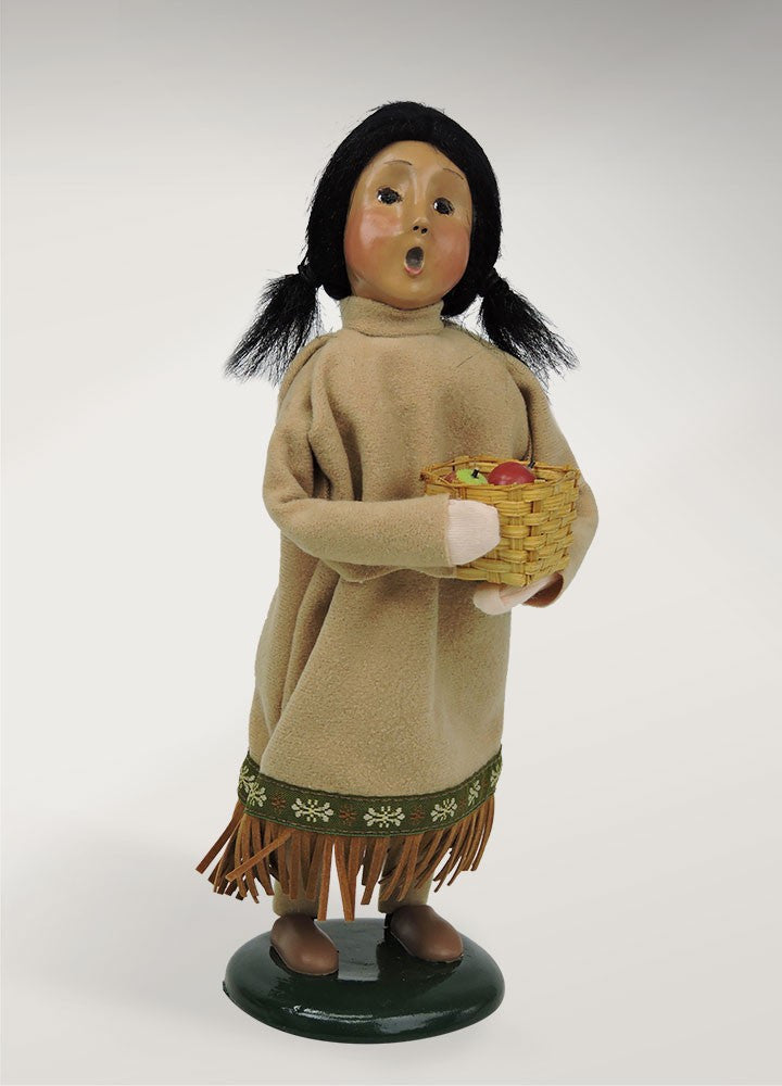 Fall Native American Girl, Byers Choice, 5017A