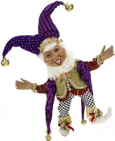 African-American Court Jester Elf Medium