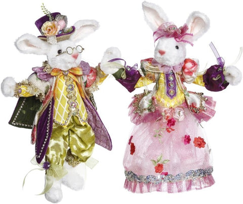 "Mr & Mrs Easter Rabbit 11""-12"""