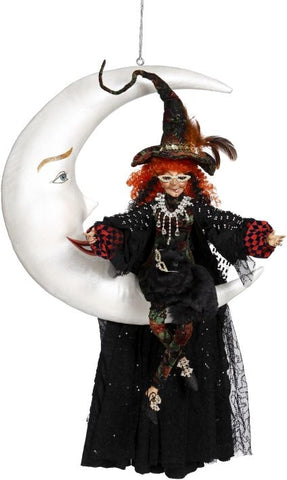 Halloween, Witch On Moon Large, Mark Roberts, 51-85418