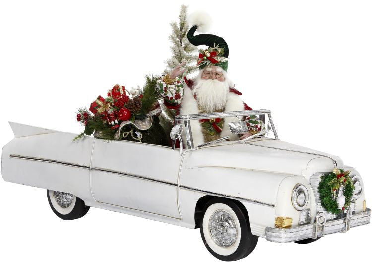 Mark Roberts Convertible Car with Santa
