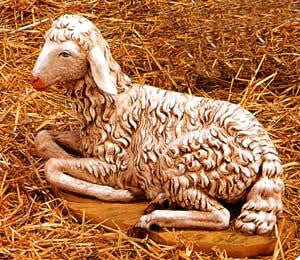 Fontanini SHEEP SEATED 52340