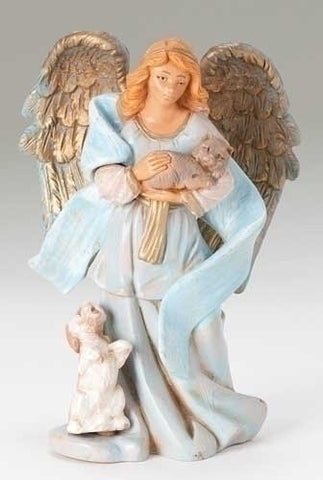 ANGEL CELIA, W/ANIMALS 5""