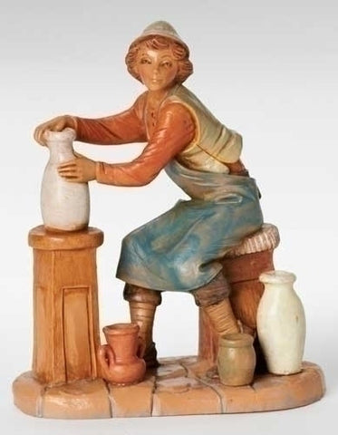 "ANDREW, THE POTTER, 7.5"", Fontanini, 52823"