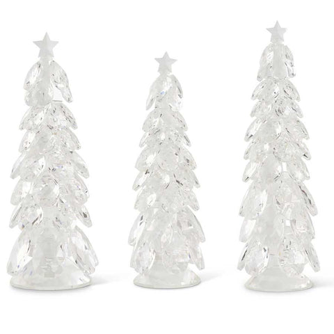 Christmas Trees w/Star , Crystal Tear Drop set/3
