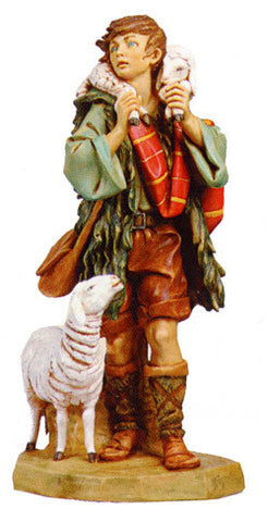"GABRIEL, SHEPHERD WITH SHEEP & LAMB, 27"", Fontanini, 53151"
