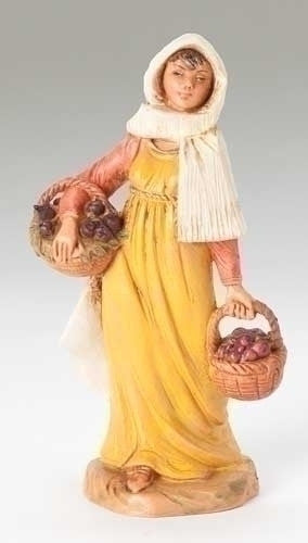 "MORIAH WITH FIG BASKET 5"", Fontanini, 54006"