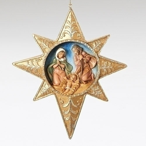 HOLY FAMILY STAR ORNAMENT WAFER, Fontanini, 56356