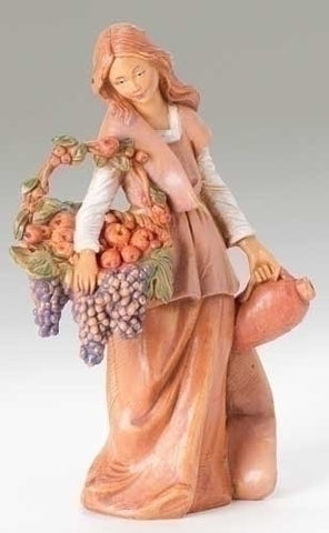 Fontanini BETHANY WOMAN WITH GRAPES
