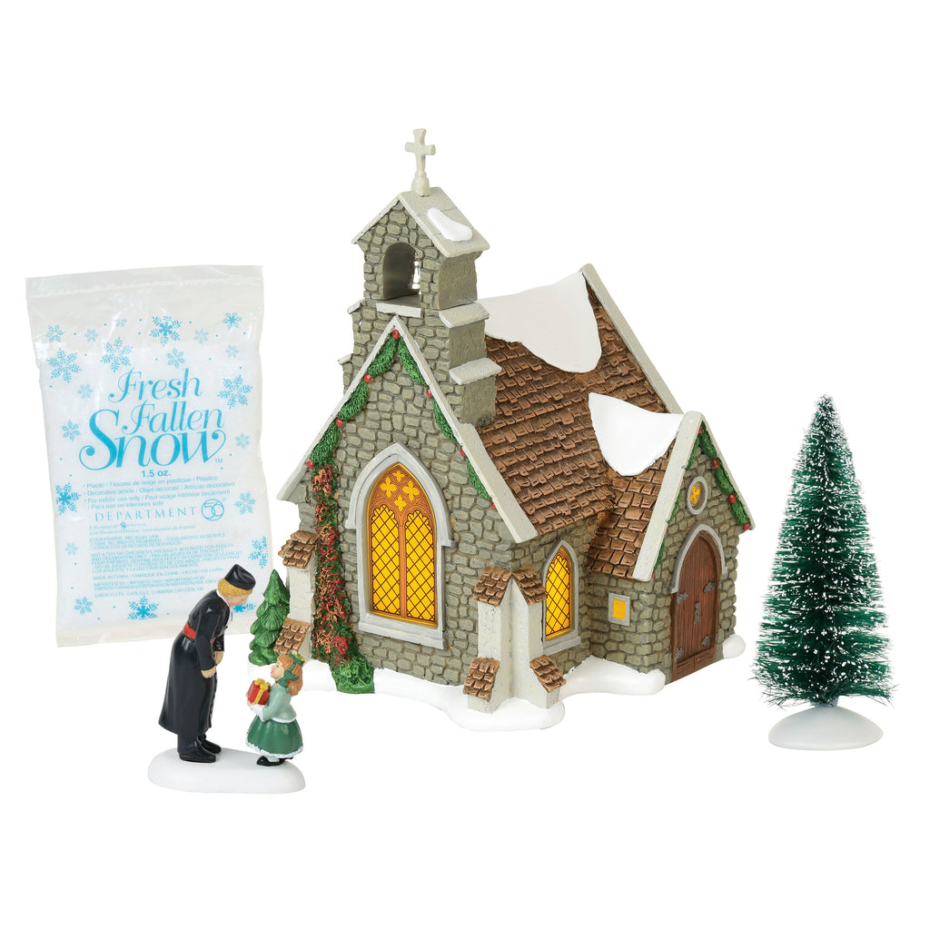 Dickens Village Isle Of Wight Chapel, Set of 4