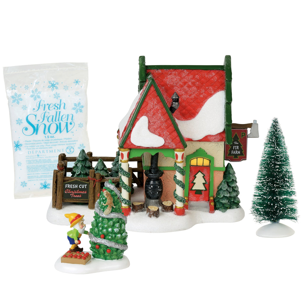 North Pole, The Fir Farm set/4 Silver Series Box Set, 6000618