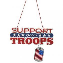 Support Our Troops Christmas Tree Ornament