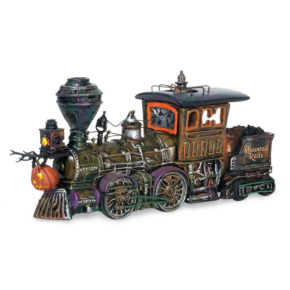 Halloween Village Train Haunted Rails Engine