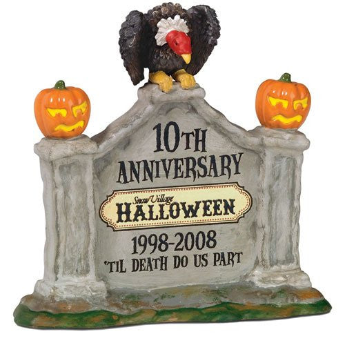 Halloween Village 10th Anniversary Sign