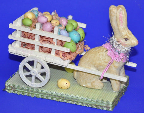 Bunny Pullinng a Cart of Eggs