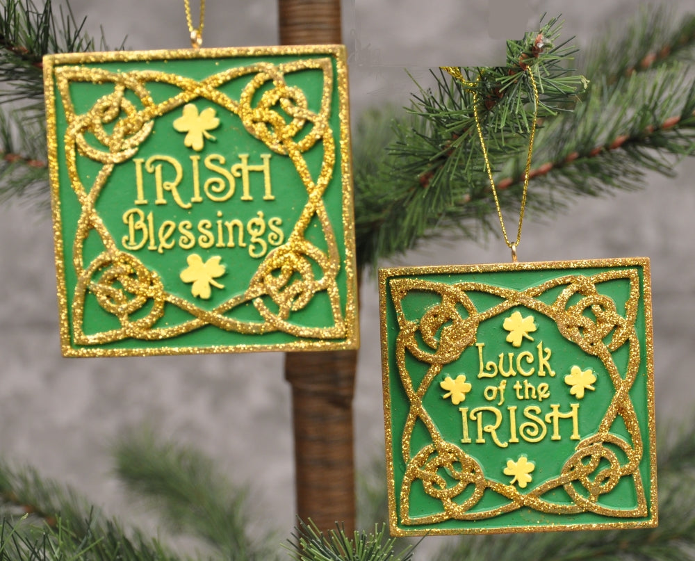 Irish Blessing and Luck of the Irish Plaques