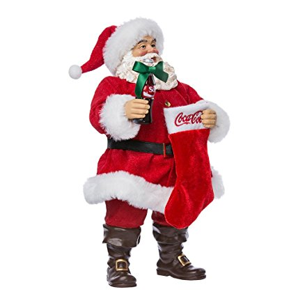 Fabriche Coca-Cola Santa with Coke bottle and stocking