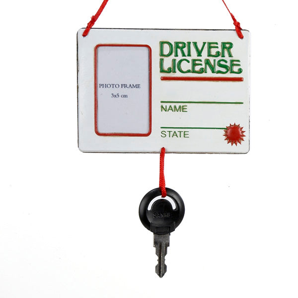 Drivers License Picture Frame Ornament