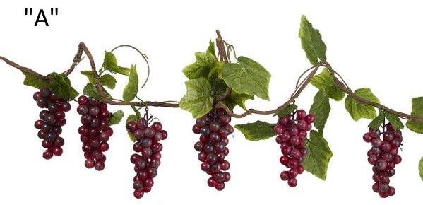Thick Grape Vine Garland RED D1745