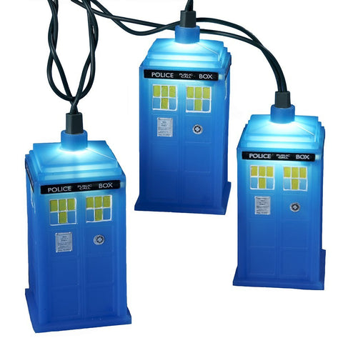 DOCTOR WHO BLUE TARDIS LIGHT SET,  DW9132B