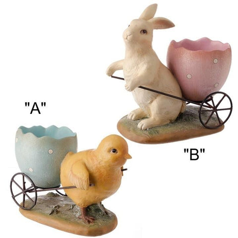 BUNNY or CHICK WITH WAGON