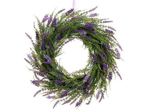 24' Lavender Twig Wreath