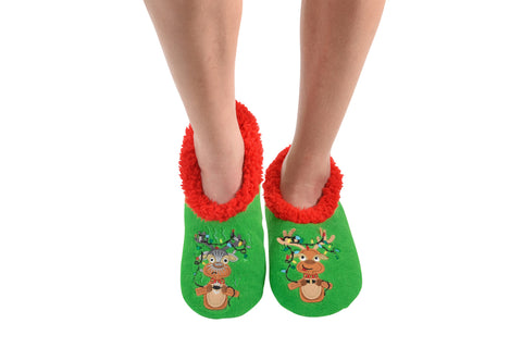 Snoozies Griswold Deer Slippers