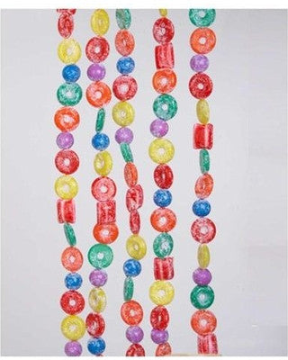 PLASTIC GLITTERED LIFE SAVER, BALL AND CANDY GARLAND