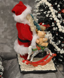 Santa Claus with Sack and Rocking Horse